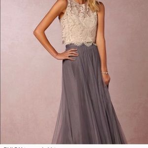 BHLDN bridesmaid dress. Two pieces, skirt and top